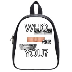 Who Are You School Bag (small) by Valentinaart