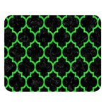 TILE1 BLACK MARBLE & GREEN COLORED PENCIL Double Sided Flano Blanket (Large)   Blanket Back