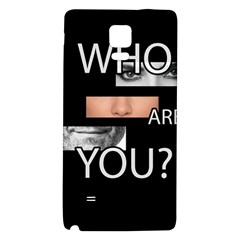 Who Are You Galaxy Note 4 Back Case by Valentinaart