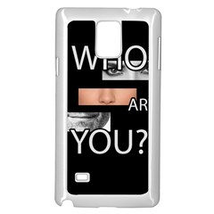 Who Are You Samsung Galaxy Note 4 Case (white)
