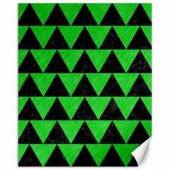 Triangle2 Black Marble & Green Colored Pencil Canvas 16  X 20   by trendistuff