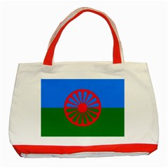 Gypsy Flag Classic Tote Bag (red) by Valentinaart
