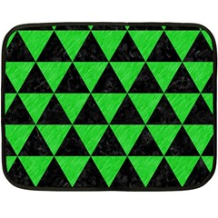 Triangle3 Black Marble & Green Colored Pencil Fleece Blanket (mini) by trendistuff