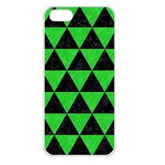 Triangle3 Black Marble & Green Colored Pencil Apple Iphone 5 Seamless Case (white) by trendistuff