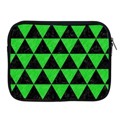 Triangle3 Black Marble & Green Colored Pencil Apple Ipad 2/3/4 Zipper Cases by trendistuff