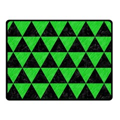 Triangle3 Black Marble & Green Colored Pencil Double Sided Fleece Blanket (small)  by trendistuff