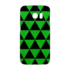 Triangle3 Black Marble & Green Colored Pencil Galaxy S6 Edge by trendistuff