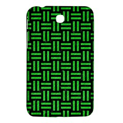 Woven1 Black Marble & Green Colored Pencil Samsung Galaxy Tab 3 (7 ) P3200 Hardshell Case  by trendistuff