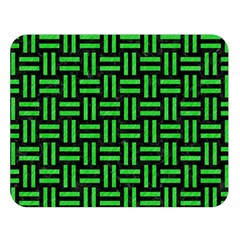 Woven1 Black Marble & Green Colored Pencil Double Sided Flano Blanket (large)  by trendistuff