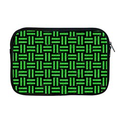 Woven1 Black Marble & Green Colored Pencil Apple Macbook Pro 17  Zipper Case by trendistuff