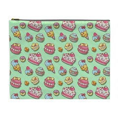 Sweet Pattern Cosmetic Bag (xl) by Valentinaart