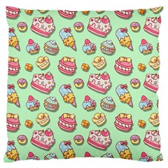 Sweet Pattern Large Cushion Case (one Side) by Valentinaart