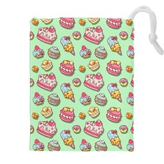 Sweet Pattern Drawstring Pouches (xxl) by Valentinaart