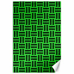 Woven1 Black Marble & Green Colored Pencil (r) Canvas 24  X 36  by trendistuff