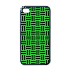 Woven1 Black Marble & Green Colored Pencil (r) Apple Iphone 4 Case (black) by trendistuff