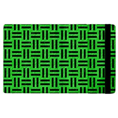 Woven1 Black Marble & Green Colored Pencil (r) Apple Ipad 2 Flip Case by trendistuff