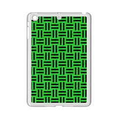 Woven1 Black Marble & Green Colored Pencil (r) Ipad Mini 2 Enamel Coated Cases by trendistuff