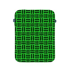 Woven1 Black Marble & Green Colored Pencil (r) Apple Ipad 2/3/4 Protective Soft Cases by trendistuff
