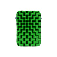 Woven1 Black Marble & Green Colored Pencil (r) Apple Ipad Mini Protective Soft Cases by trendistuff