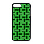 WOVEN1 BLACK MARBLE & GREEN COLORED PENCIL (R) Apple iPhone 7 Plus Seamless Case (Black) Front