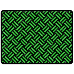 Woven2 Black Marble & Green Colored Pencil Double Sided Fleece Blanket (large)