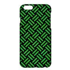 Woven2 Black Marble & Green Colored Pencil Apple Iphone 6 Plus/6s Plus Hardshell Case by trendistuff