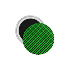 Woven2 Black Marble & Green Colored Pencil (r) 1 75  Magnets by trendistuff