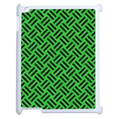 Woven2 Black Marble & Green Colored Pencil (r) Apple Ipad 2 Case (white) by trendistuff