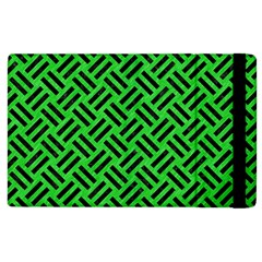 Woven2 Black Marble & Green Colored Pencil (r) Apple Ipad 2 Flip Case by trendistuff
