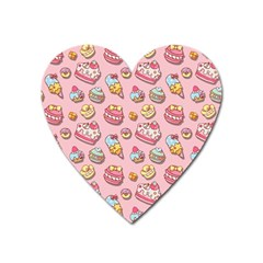 Sweet Pattern Heart Magnet by Valentinaart