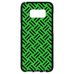 Woven2 Black Marble & Green Colored Pencil (r) Samsung Galaxy S8 Black Seamless Case by trendistuff