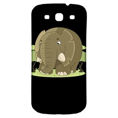 Cute Elephant Samsung Galaxy S3 S Iii Classic Hardshell Back Case by Valentinaart