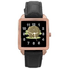 Cute Elephant Rose Gold Leather Watch