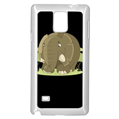 Cute Elephant Samsung Galaxy Note 4 Case (white) by Valentinaart