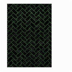 Brick2 Black Marble & Green Leather Large Garden Flag (two Sides) by trendistuff
