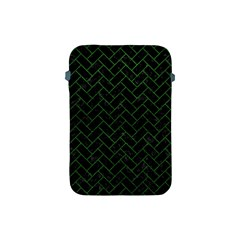 Brick2 Black Marble & Green Leather Apple Ipad Mini Protective Soft Cases by trendistuff
