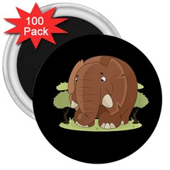 Cute Elephant 3  Magnets (100 Pack) by Valentinaart