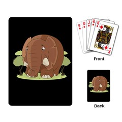 Cute Elephant Playing Card by Valentinaart