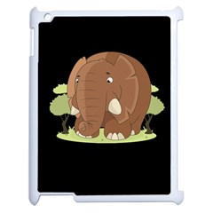 Cute Elephant Apple Ipad 2 Case (white) by Valentinaart