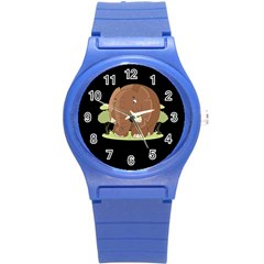 Cute Elephant Round Plastic Sport Watch (s)