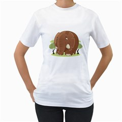 Cute Elephant Women s T Shirt (white) (two Sided)