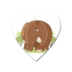 Cute Elephant Heart Magnet by Valentinaart