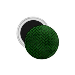 Brick2 Black Marble & Green Leather (r) 1 75  Magnets by trendistuff
