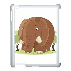 Cute Elephant Apple Ipad 3/4 Case (white) by Valentinaart