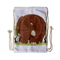 Cute Elephant Drawstring Bag (small) by Valentinaart