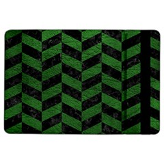 Chevron1 Black Marble & Green Leather Ipad Air 2 Flip by trendistuff