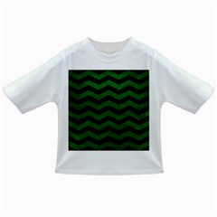 CHEVRON3 BLACK MARBLE & GREEN LEATHER Infant/Toddler T-Shirts