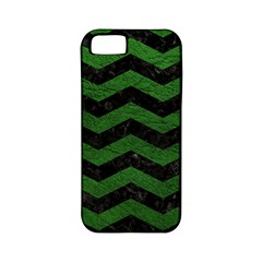 CHEVRON3 BLACK MARBLE & GREEN LEATHER Apple iPhone 5 Classic Hardshell Case (PC+Silicone)