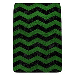 CHEVRON3 BLACK MARBLE & GREEN LEATHER Flap Covers (L)