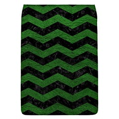 CHEVRON3 BLACK MARBLE & GREEN LEATHER Flap Covers (S)